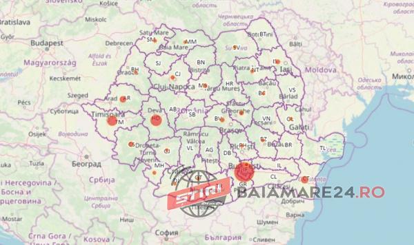 Harta Pe Județe A Cazurilor De Coronavirus Din Romania 123 De